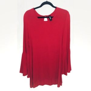 AGNES &DORA BELL SLEEVE TUNIC LARGE